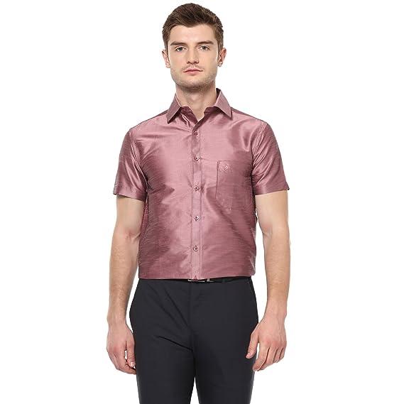 d511efa7442397 Khoday Williams Men s Light Purple Poly Silk Solid Regular Fit Shirt (5000032-LIGHTPURPLE-