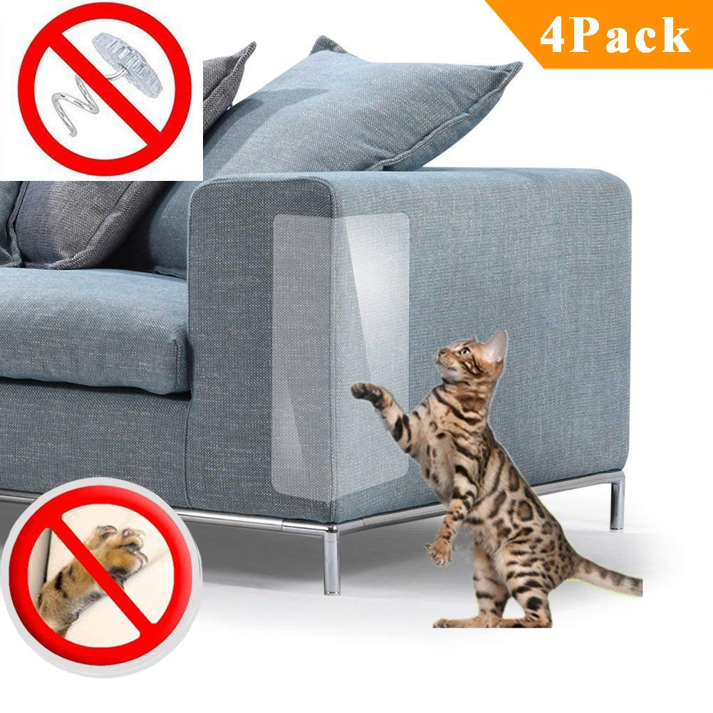 PetIsay Plastic Couch Guard from Cat Scratching Protector Clawing Furniture Repellent Table Set Sofa Slipover Pads M