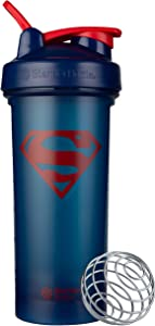BlenderBottle Justice League Classic V2 Shaker Bottle Perfect for Protein Shakes and Pre Workout, 28-Ounce, Superman