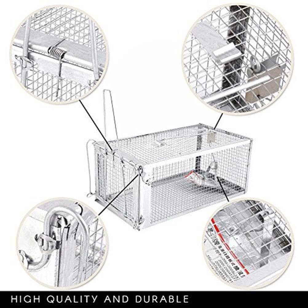Animal Trap Cage,AutumnFall Clearance!!❤️❤️1PC Stainless Steel Rodent Animal Mouse Humane Live Trap Hamster Cage Mice Rat Control Catch Bait Durable 2018 Hot Sale (Silver) by AutumnFall_ Trap Cage (Image #4)