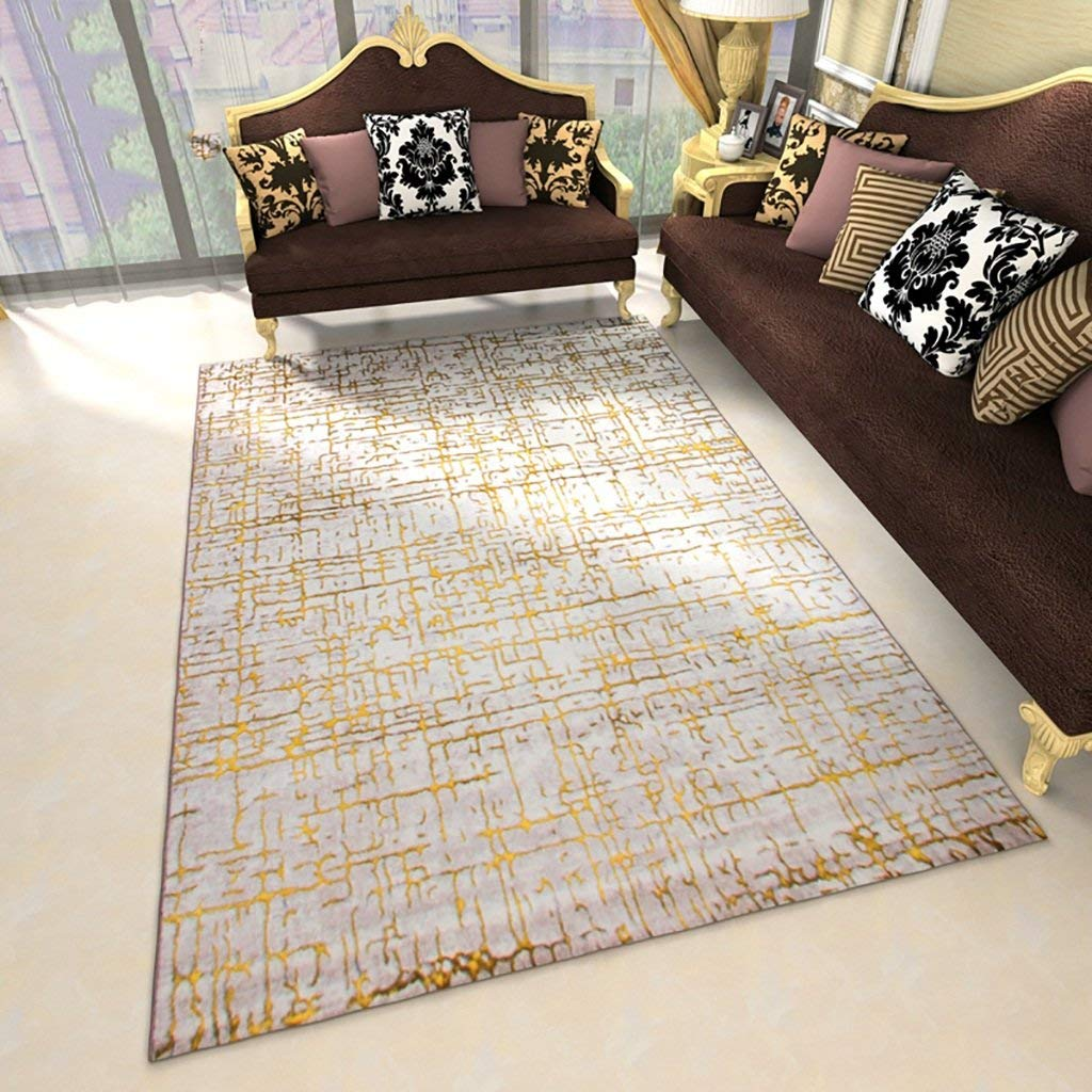 Yellow 160230CM Royare Home Decorations mat European Modern Simple Living Room s Coffee Table Bedroom Rectangle Mats Dining Table Study Thicker Bedside Large Rugs (color   blueee, Size   160  230CM)