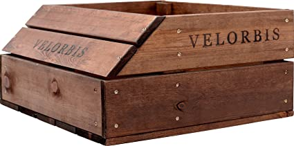 Velorbis Bicycle Wooden Front Crate Amazoncouk Kitchen Home