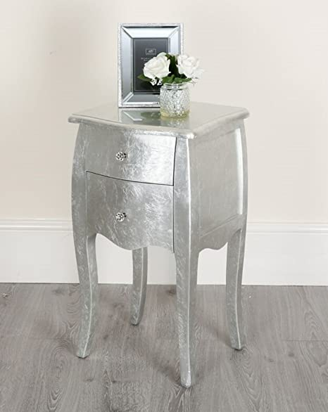 Silver Shabby Chic Console Side Table French Bedroom Hallway 2 3 5 ...