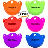 Ozera 6 Pack Egg Poacher Cups Silicone Egg Poaching Pods Poached Egg Maker For Microwave or Stovetop Egg Cooking - BPA Free