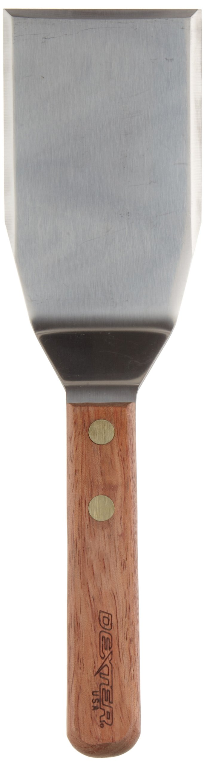 Traditional 85849CP 4'' x 3'' Hamburger Turner with wood Handle