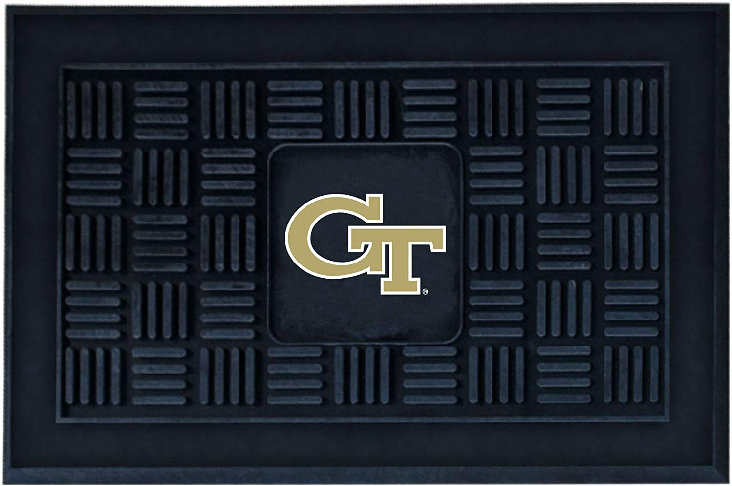 FANMATS NCAA Georgia Tech Yellow Jackets Vinyl Door Mat