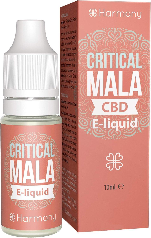 Harmony E-líquido de CBD (más de 99% pureza) - Terpenos de Critical Mala - 300 mg CBD en 10 ml - Sin Nicotina