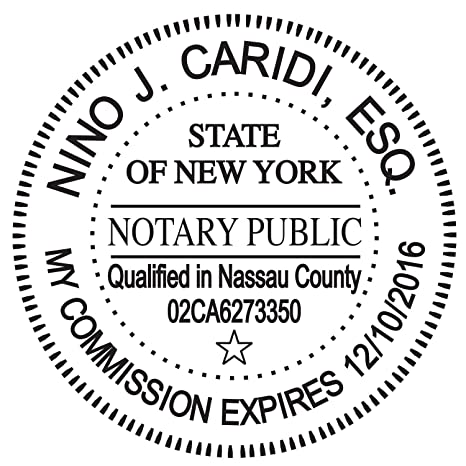 Amazon Round Notary Stamp For State Of New York Self Inking