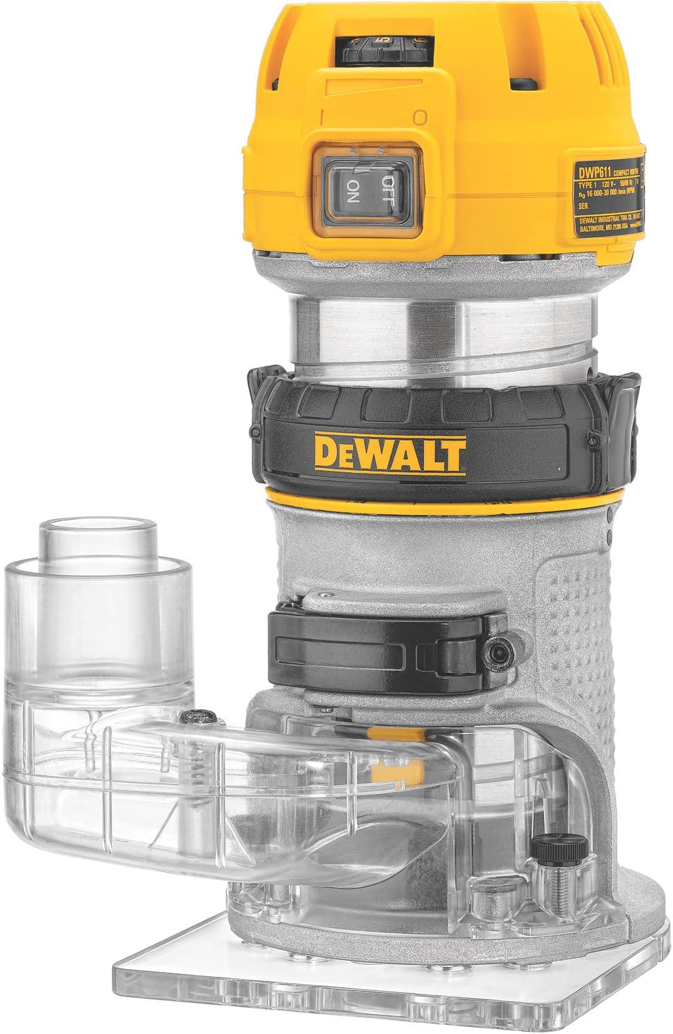 Dewalt Universal Router Edge Guide Dust Collection System Collector Accessory
