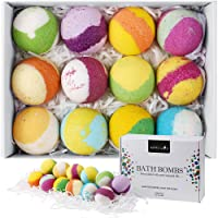 Aprilis 12 Bath Bombs Gift Set Handcrafted Vegan Bath Bomb Set