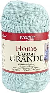 Premier Yarns Solid Home Cotton Grande Yarn, Pastel Blue