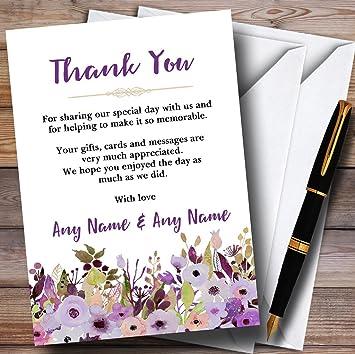 Lila y color morado diseño de peonías boda tarjetas de ...
