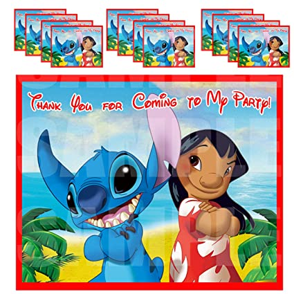 Lilo And Stitch Party Favors Supplies Decorations Gift Bag Label Stickers Only 3 75 X 4 75 12 Pcs