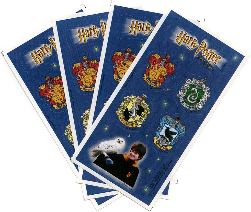 Harry Potter Houses of Hogwarts Crests Stickers Sorcerer's Stone by Party Express