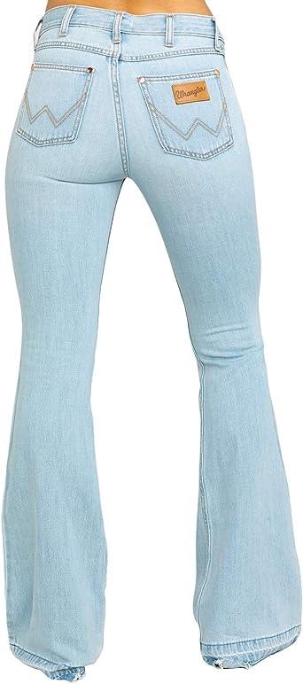 Amazon Com Wrangler Mujer Heritage Tencel Flare Jeans Wbhrfcs 24w X 34l Clothing