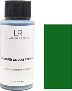 Leather Restore Leather Color Repair, Green 1 OZ - Repair, Recolor and Restore Couch, Furniture, Auto Interior, Car Seats, Vinyl and Shoes