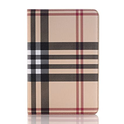 timeless design 2d2ff d6e85 AirChichi Case for iPad 9.7 Inch Grid Check Lightweight Flip Folio Stand  Premium Leather Card Slots Money Pocket Auto Sleep/Wake Protective Plaid ...