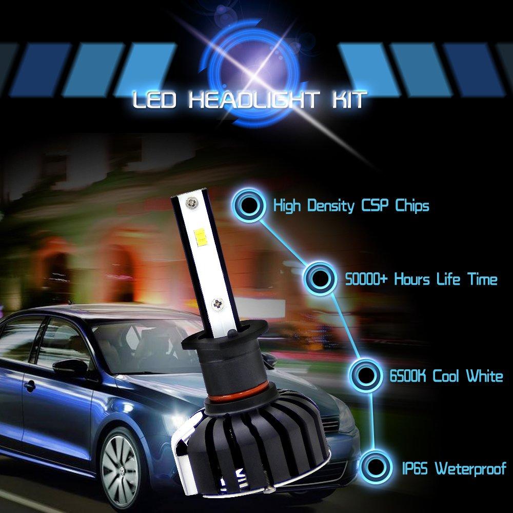 Kit LED Faros H1 6000 K 80 W 8000LM Chip CSP Super Brillo Bi-xenón HID De Conversión De Todo En Uno Play & Enchufe: Amazon.es: Coche y moto