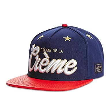 6d79569c Cayler and Sons Creme De La Creme Snapback Cap Deep Navy Red Snake ...