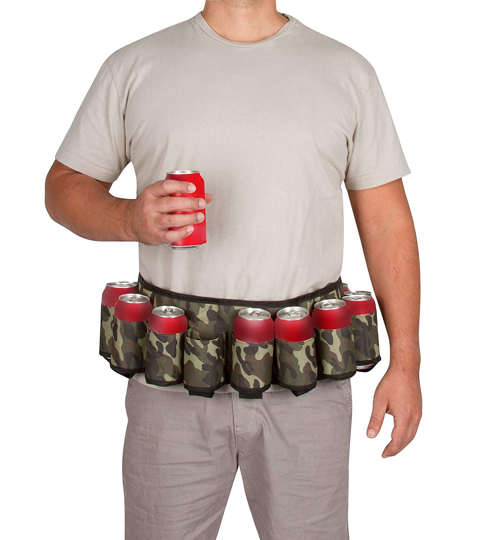 Redneck Beer and Soda Can Holster Belt Camo