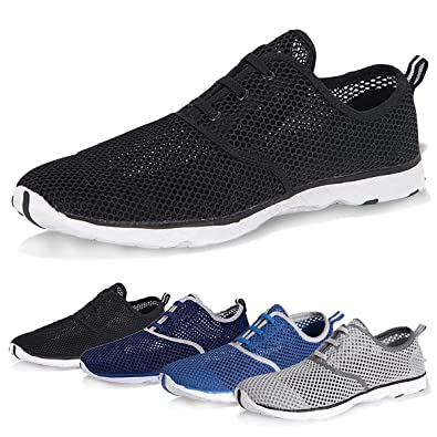 1f95a102fb72 Water Shoes for Men Quick Drying Aqua Shoes Beach Pool Shoes (Black