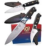 "DALSTRONG 3pc Paring Knife Set - Shogun Series - Damascus - Japanese AUS-10V Super Steel - 3.5"" Paring - 3"" Bird's Beak - 3.5"