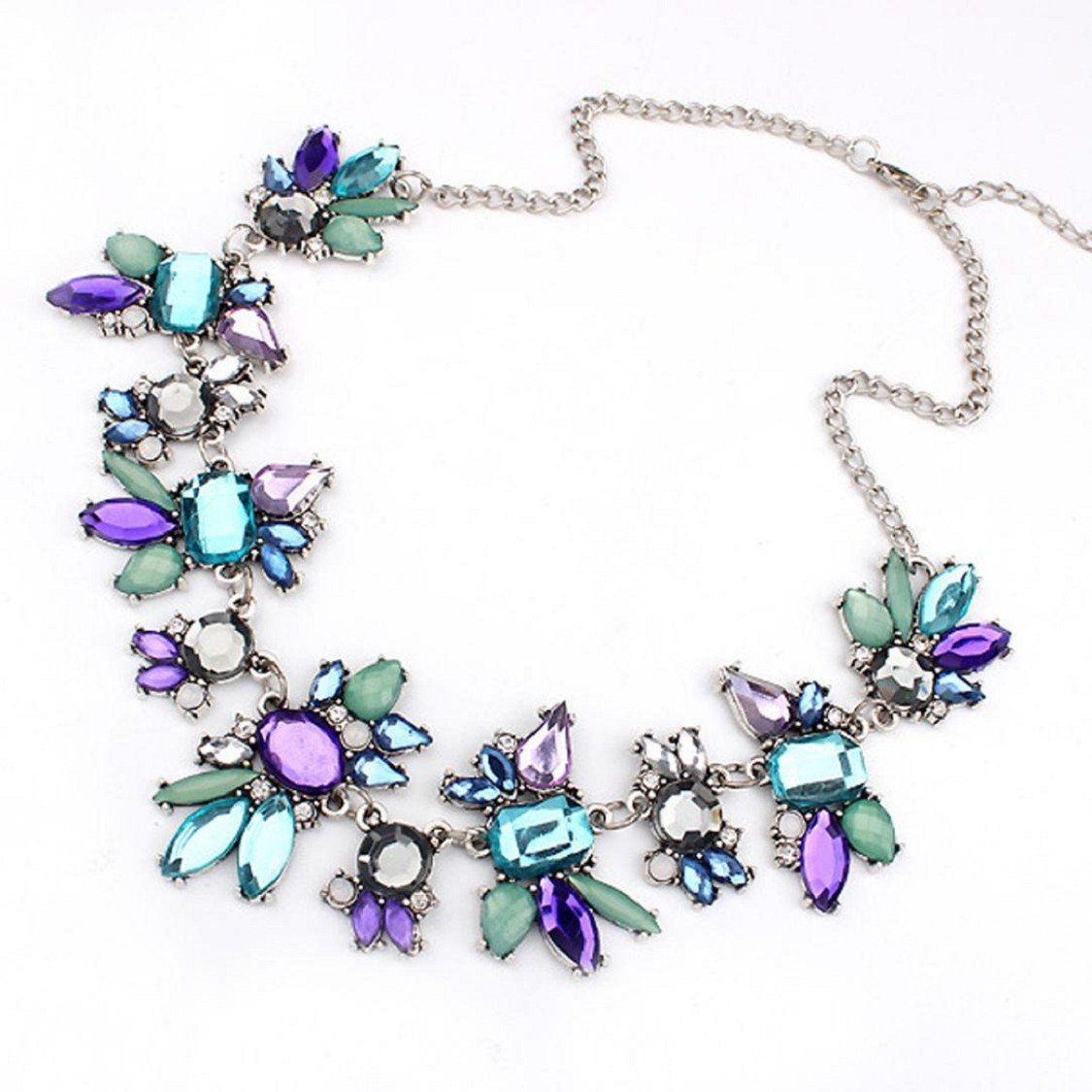 Ikevan 2017 Hot Selling Necklace Women Fresh Wild Fashion Delicate Clavicle Necklace (Purple)