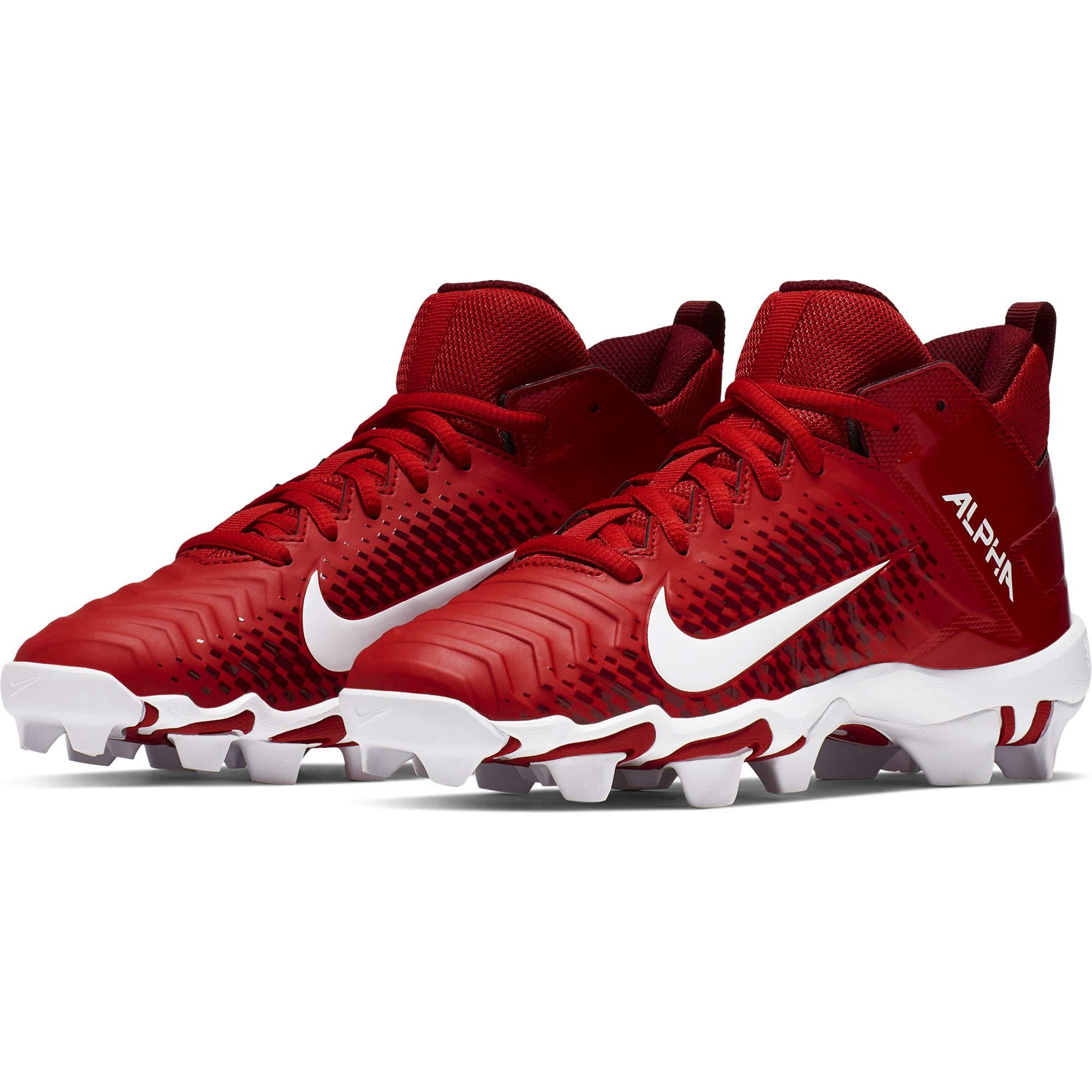 Nike Boy's Alpha Menace Shark 2 Football Cleat University Red/White Size 12 Kids US