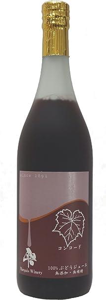 【まるき葡萄酒】雫 コンコード 100%ストレート果汁 赤 (無添加 生ぶどう果汁搾り) 720ml