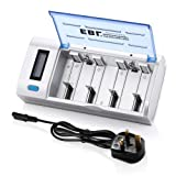 EBL 906 LCD Display Universal Battery Charger & Discharger for AA AAA C D 9V Ni-MH Ni-CD Rechargeable Batteries