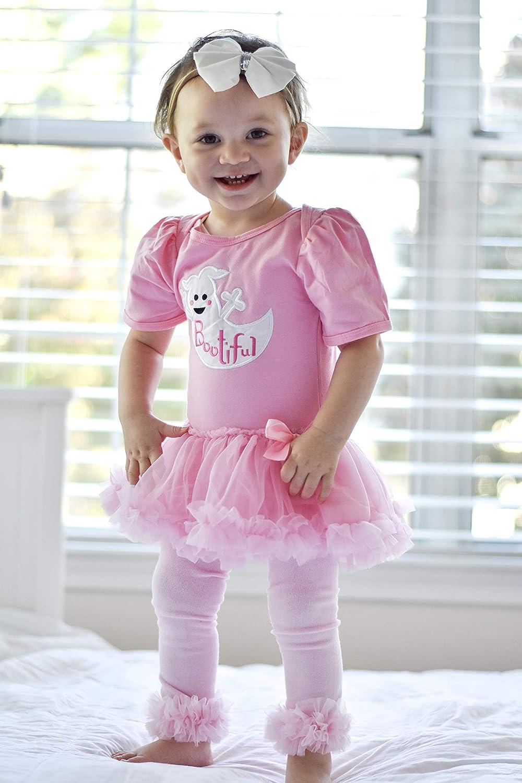 033cf2b40 Amazon.com: So Sydney Baby Girl Halloween Black Cat Ghost Tutu Skirt  Bodysuit Romper Costume: Clothing