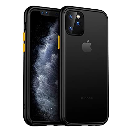 MKOAWA Slim Fit Case for iPhone 11 Pro, Translucent Matte Case with Soft  Edges Shockproof Protective Cover for Apple iPhone 11 Pro Case 5.8 Inch