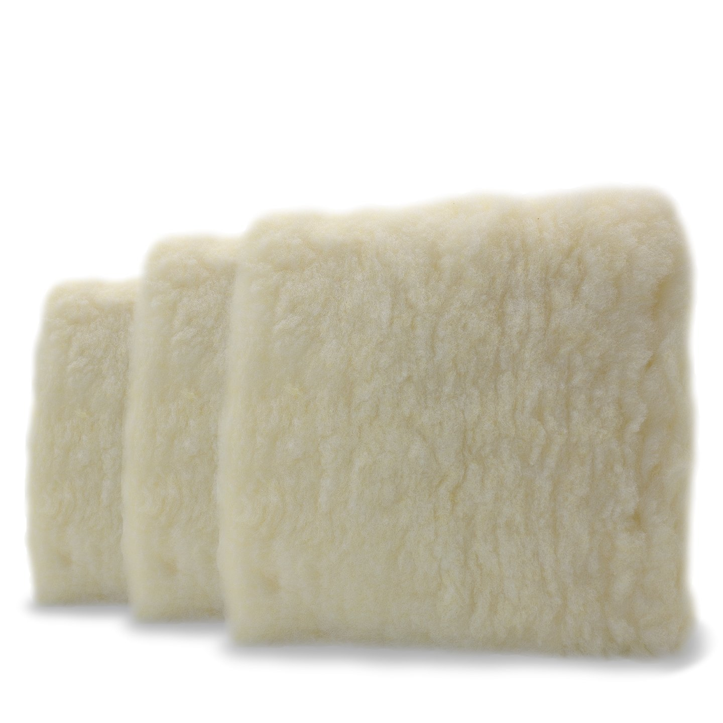 Adam's Professional 10'' Car Wash Pad - Made of Professional Grade Plush Synthetic Wool - Safely Wash Your Vehicle Without Introducing New Scratches or Swirls - Swirl Free Washing Guaranteed (3 Pack)