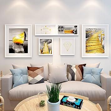 DENGJU Klassische Fotorahmen Massivholz Collage Kombination Wohnzimmer  Schlafzimmer Bilderrahmen Wand Kreative Kombinationen Moderne Einfache  Esszimmer Foto