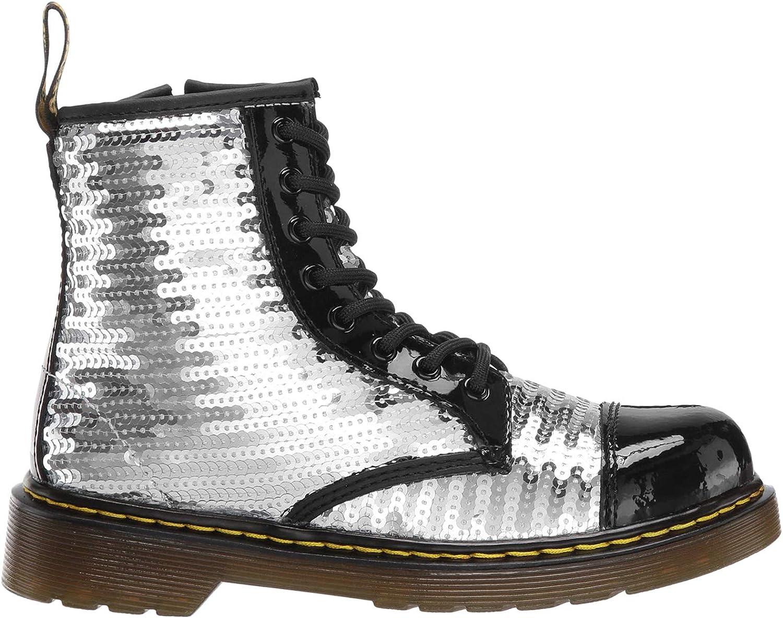 Little Kid//Big Kid Martens Kids Collection Girls 1460 Pooch Sequins Boot Dr