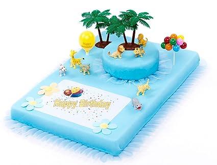 Decorazioni Torte Cinesi : Decorazione per torte zoo animali happy birthday boy girl pezzi