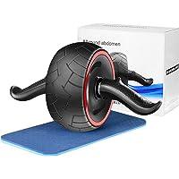 Cyiecw Bukövningsrulle, Ab rullhjul med knäskydd ultra-brett mag-hjul buken träningsutrustning kärna träningshjul för…