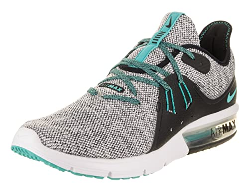 cffeee3f4ae Nike Mens Air Max Sequent 3   White-Hyper Jade  Buy Online at Low Prices in  India - Amazon.in