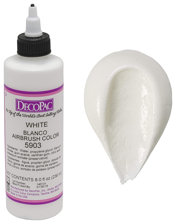 DecoPac Airbrush Color, White, .65 Pound