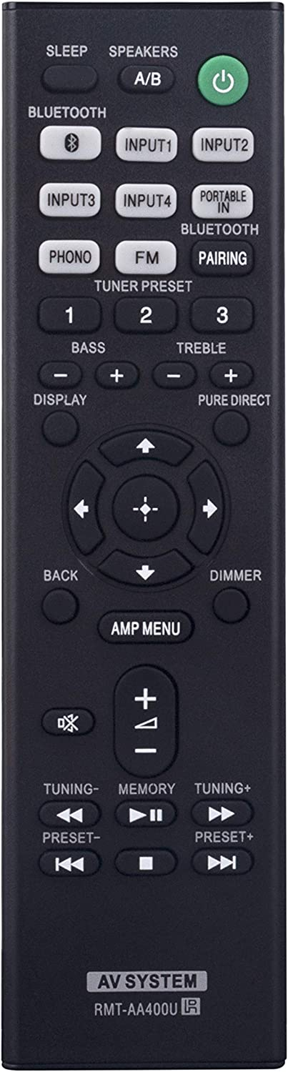 RMT-AA400U Replaced Remote fit for Sony Stereo Receiver Home Theater STR-DH190