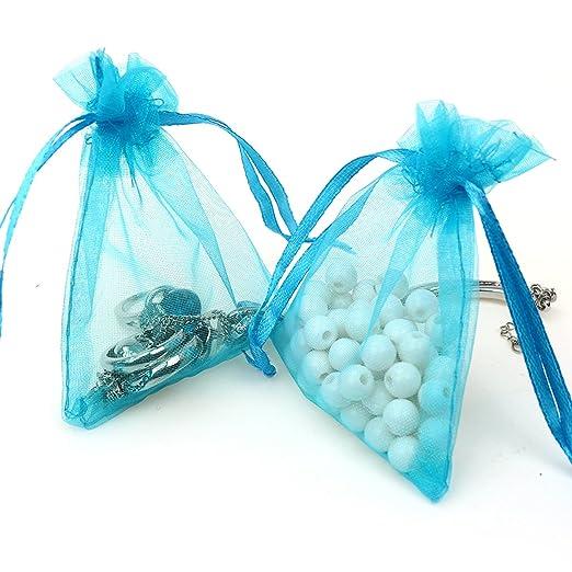 Amazon.com: AKStore - 100 bolsas de organza para regalos de ...