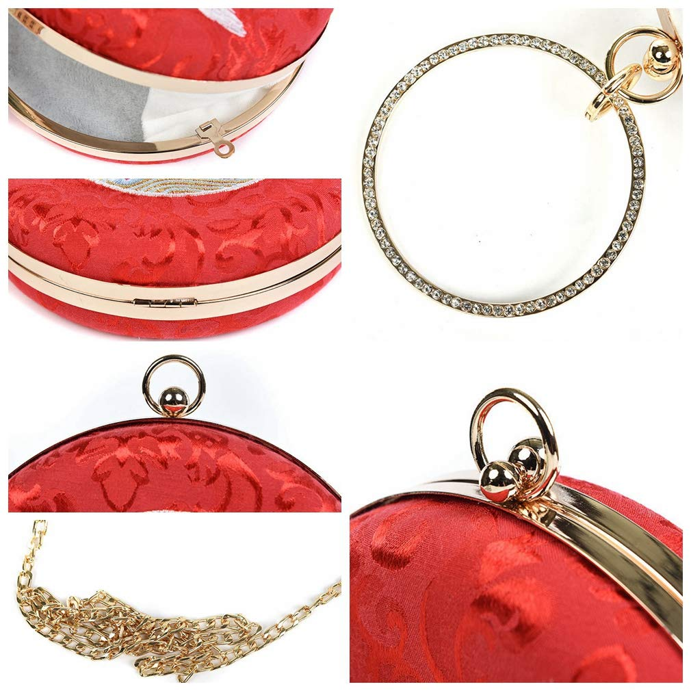 Stefunny beauty Women Embroidered Flowers Handbag Small Clutch Bag Ancient Style Cheongsam Banquet Portable Chain Bag