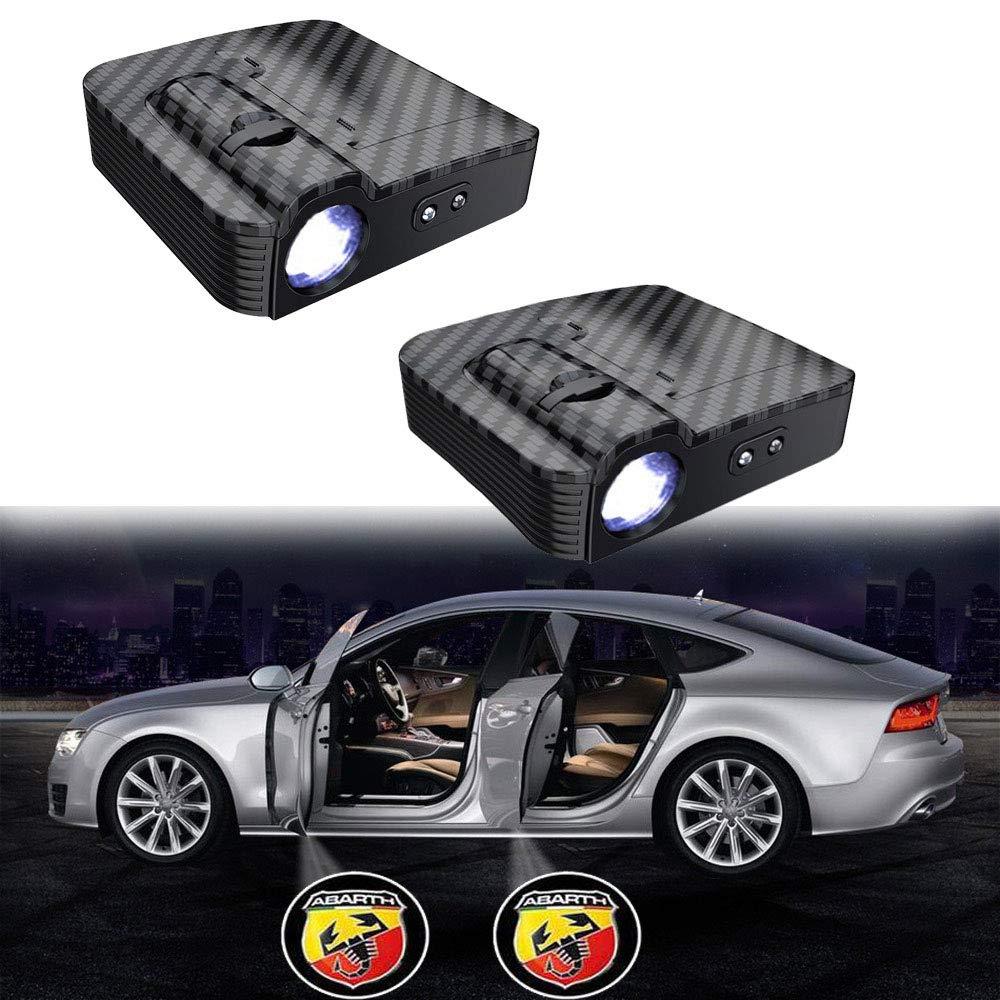 Aceptar logotipo personalizado MIVISO Proyector inal/ámbrico sin im/án actualizado Paso de puerta de coche Cortes/ía Luces de bienvenida para luces LED de Ghost Shadow
