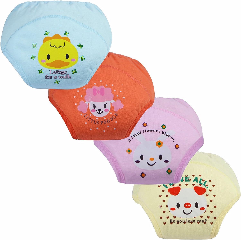 LOSORN ZPY 4Pcs Baby Training Pants Kinder Unterw/äsche Unterhosen Trainerhosen T/öpfchentraining