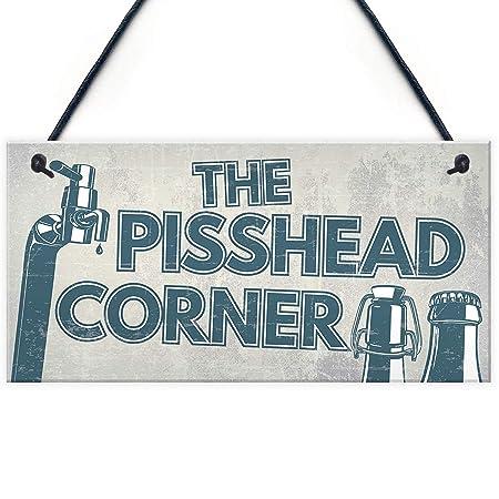 Shunry The Pisshead Corner Colgar en la Pared Letrero de ...