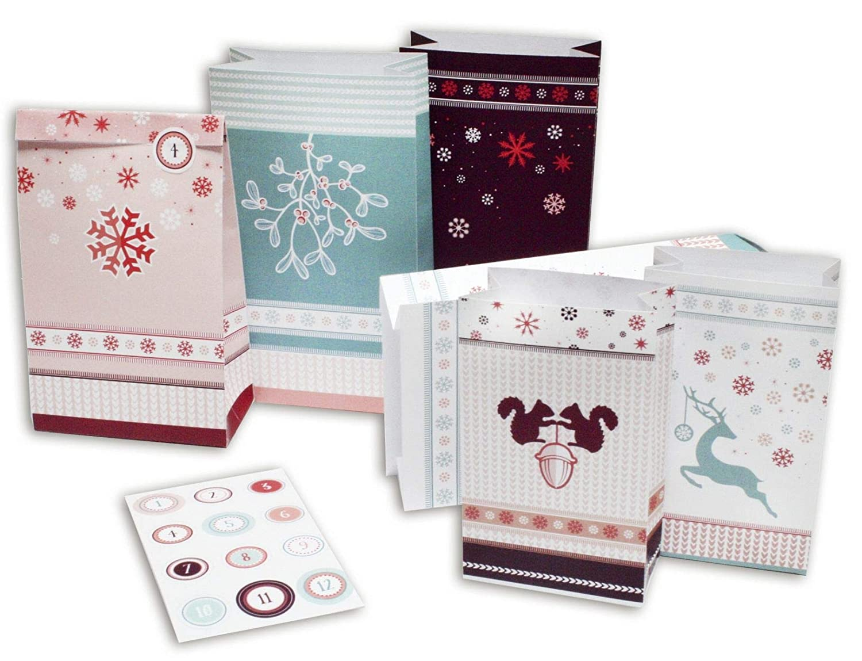 ROTH Adventskalender 24 Adventstütchen ´Winterwald´ 80322