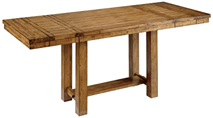Beau Ashley Furniture Signature Design   Krinden Dining Room Table   Counter  Height   Rectangular   Light