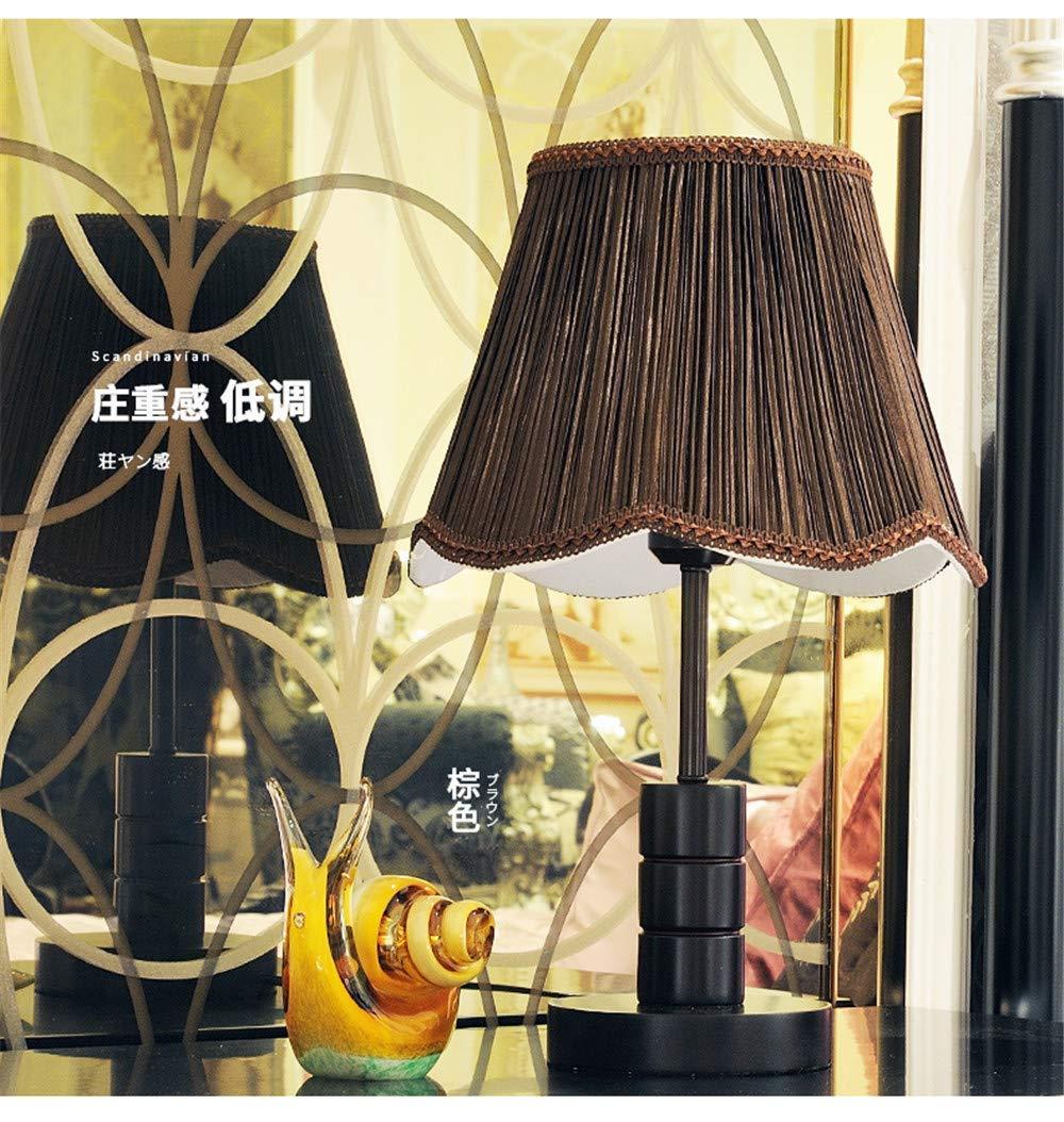 Eeayyygch Nachttisch und Tischlampen Moderne minimalistische Tischlampe Schlafzimmer Nachttischlampe Retro Holz Mode Kreative Warme Wohnzimmer Dekoration Tischlampe (Farbe   -, Größe   -)