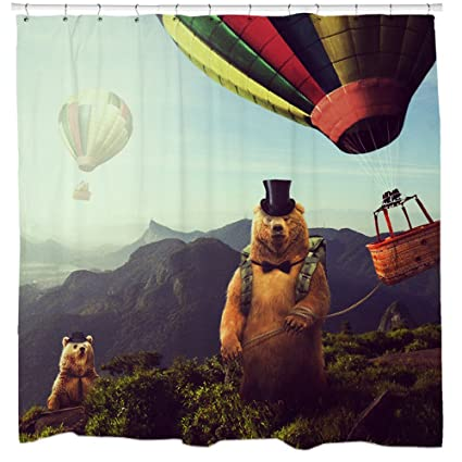 Image Unavailable Not Available For Color Sharp Shirter Hot Air Bearoons Shower Curtain