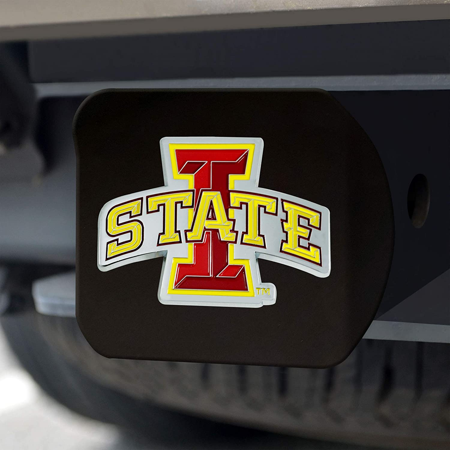 One Sized Team Colors Black Blackcolor Hitch FANMATS NCAA Iowa State Cyclones Color Hitch